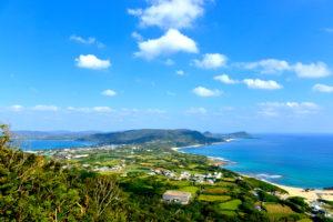 奄美大島二つの海が見える場所